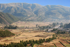 Peru Mountainside. View from Mountain in Peru Stock Images