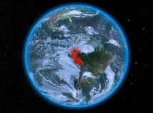 Peru na noite na terra imagens de stock