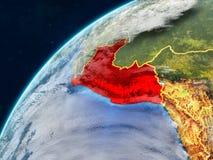 Peru na terra com beiras imagem de stock