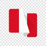 Peru - nationsflagga royaltyfri illustrationer