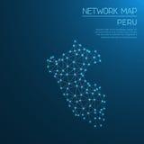 Peru network map. Stock Image