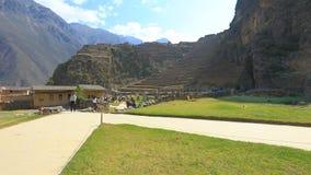 Ollataytambo archeological site panoramic view Peru