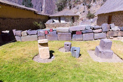 Peru, Ollantaytambo-Inca ruins of Sacred Valley in Andes mountains,South Americа Royalty Free Stock Photo