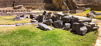 Peru, Ollantaytambo-Inca ruins of Sacred Valley in Andes mountains,South America. Stock Photos
