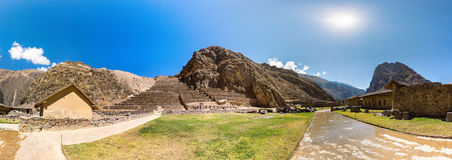 Peru, Ollantaytambo-Inca ruins of Sacred Valley in Andes mountains,South America. Royalty Free Stock Photography