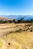 Peru, Ollantaytambo-Inca ruins of Sacred Valley in Andes mountains,South America. Royalty Free Stock Images