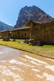 Peru, Ollantaytambo-Inca ruins of Sacred Valley in Andes mountains,South America. Stock Photo