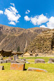 Peru, Ollantaytambo-Inca ruins of Sacred Valley in Andes mountains,South America Stock Photos