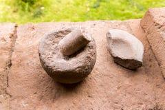 peru Oude Aztec en Maya steenbeeldhouwwerken royalty-vrije stock foto