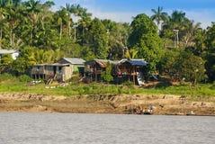 Peru, paisagem peruana de Amazonas. O presente ind típico da foto imagem de stock royalty free