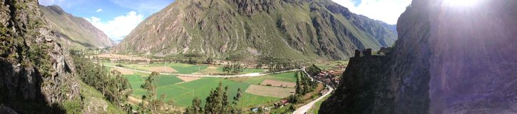 Peru panorama sacred valley royalty free stock image