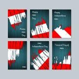 Peru Patriotic Cards für Nationaltag Stockbild