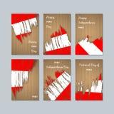 Peru Patriotic Cards para el día nacional stock de ilustración