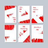 Peru Patriotic Cards para el día nacional ilustración del vector
