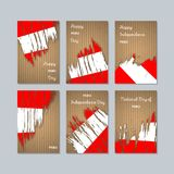 Peru Patriotic Cards per la festa nazionale Immagine Stock Libera da Diritti