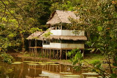 Peru, Peruvian Amazonas landscape. The photo present typical indian tribes settlement in Amazon. Peru, Peruvian Amazonas landscape stock image