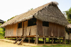 Peru, Peruvian Amazonas landscape. The photo present typical in. Dian tribes settlement in Amazon stock photos