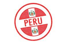 Peru pieczątka Zdjęcie Royalty Free