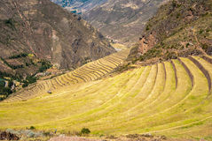 Peru, Pisac - Inca ruins in the sacred valley Stock Photo