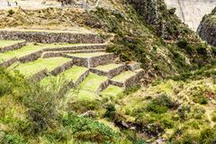 Peru, Pisac (Pisaq) - Inca ruins in the sacred valley in the Peruvian Andes Stock Photography