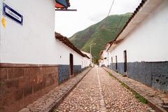 Peru, Pisac (Pisaq) in the Peruvian Andes. Stock Photo