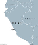 Peru political map Royalty Free Stock Photo