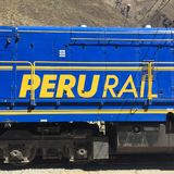 Peru poręcza Machu Picchu pociąg ekspresowy Zdjęcia Stock