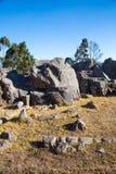 Peru, Qenko, bij Archeologisch Park van Saqsaywaman. Zuid-Amerika wordt gevestigd dat. stock foto