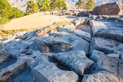 Peru, Qenko, die bij Archeologisch Park van Saqsaywaman wordt gevestigd stock afbeeldingen