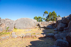 Peru, Qenko, located at Archaeological Park of Saqsaywaman.South America.This archeological site - Inca ruins. Is made up of limestone royalty free stock image