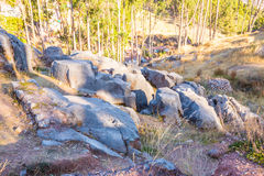 Peru, Qenko, located at Archaeological Park of Saqsaywaman.South America.This  archeological site - Inca ruins Stock Photo