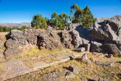 Peru, Qenko, located at Archaeological Park of Saqsaywaman.South America.This  archeological site - Inca ruins- Stock Photography