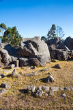 Peru, Qenko, located at Archaeological Park of Saqsaywaman.South America. Stock Photo