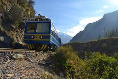 Peru Rail Train from Cuzco to Machu Picchu Stock Photos
