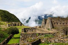 Peru, remote Inca ruins of Choquequirau near Cuzco Royalty Free Stock Image