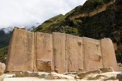 Peru, ruínas de Ollantaytambo imagem de stock royalty free