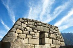 Peru-Ruinen und Wolken stockfoto