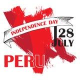 Peru ` s dzień niepodległości Lipiec 28rd Krajowy Patriotyczny wakacje wyzwolenie w ameryka łacińska Peruwiański tricolor w ilustracji