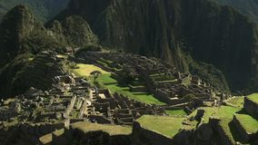 Shot of machu picchu on a misty morning