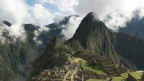 Peru`s lost city machu picchu on a misty morning