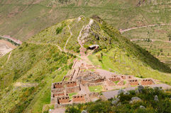 Peru, Sacred Valley, Pisaq Inca ruins Royalty Free Stock Photo