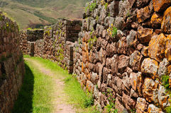 Peru, Sacred Valley, Pisaq Inca ruins. Peru, Pisac (Pisaq) - Inca ruins in the sacred valley in the Peruvian Andes Stock Photography