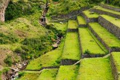 Peru, Sacred Valley, Pisaq Inca ruins Stock Photos