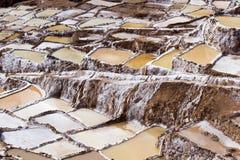 Peru, Salinas de Maras, Pre Inca traditional salt mine (salinas). Peru, Salinas de Maras, Pre Inca traditional salt mine (salinas royalty free stock images