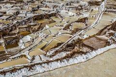 Peru, Salinas de Maras, Pre Inca traditional salt mine (salinas). Peru, Salinas de Maras, Pre Inca traditional salt mine (salinas royalty free stock photo