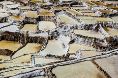 Peru, Salinas de Maras, Pre Inca traditional salt mine (salinas). Peru, Salinas de Maras, Pre Inca traditional salt mine (salinas stock images
