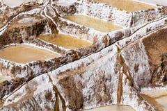Peru, Salinas de Maras, Pre Inca traditional salt mine (salinas). Stock Image