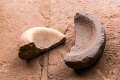 peru Sculptures en pierre antiques en Aztèque et en Maya Image stock
