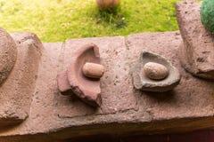 peru Sculptures en pierre antiques en Aztèque et en Maya Images libres de droits