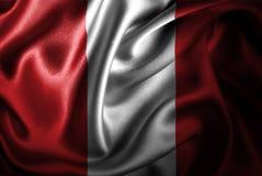 Peru Silk Satin Flag stock de ilustración